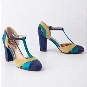 Shoes - Seychelles Zelda Suede T-Strap Heels 9.5